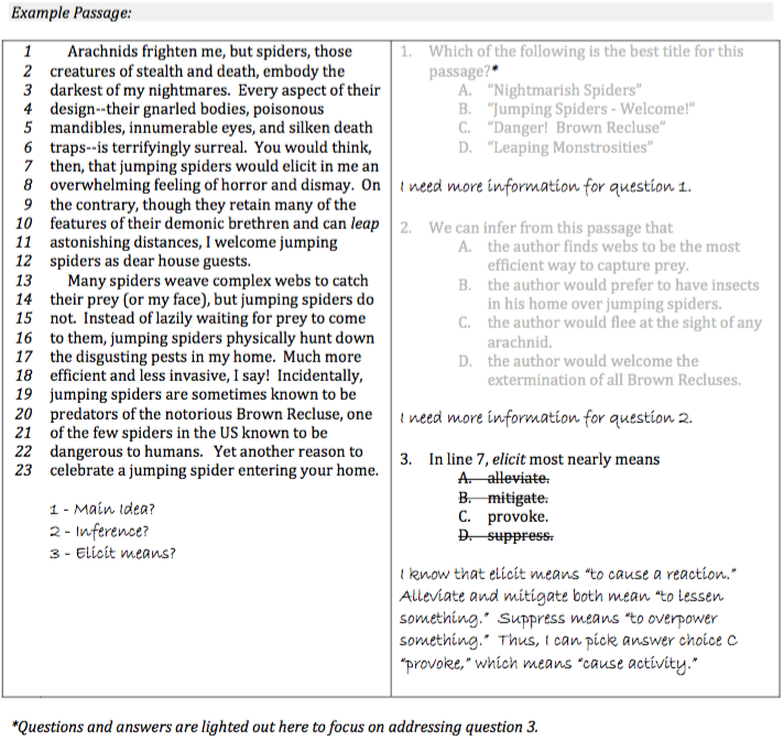 Upper Level ISEE Reading Comprehension Strategy Step 2