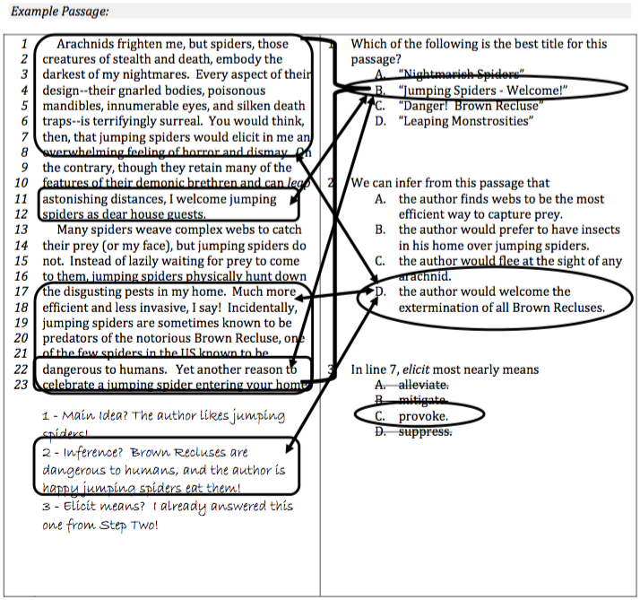 Upper Level ISEE Reading Comprehension Strategy Step 3