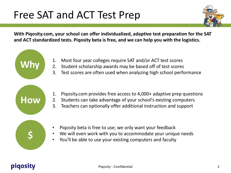 Free SAT and ACT Test Prep Program for Schools