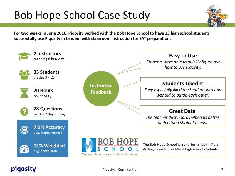 Bob Hope School Case Study
