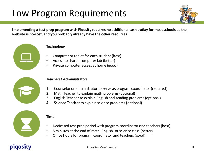 Low Program Requirements for Course