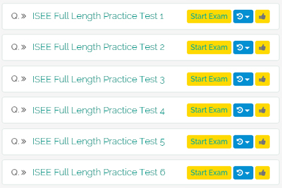 6 Full-Length Upper Level ISEE Practice Tests