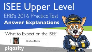 what to expect onthe isee answer explanations