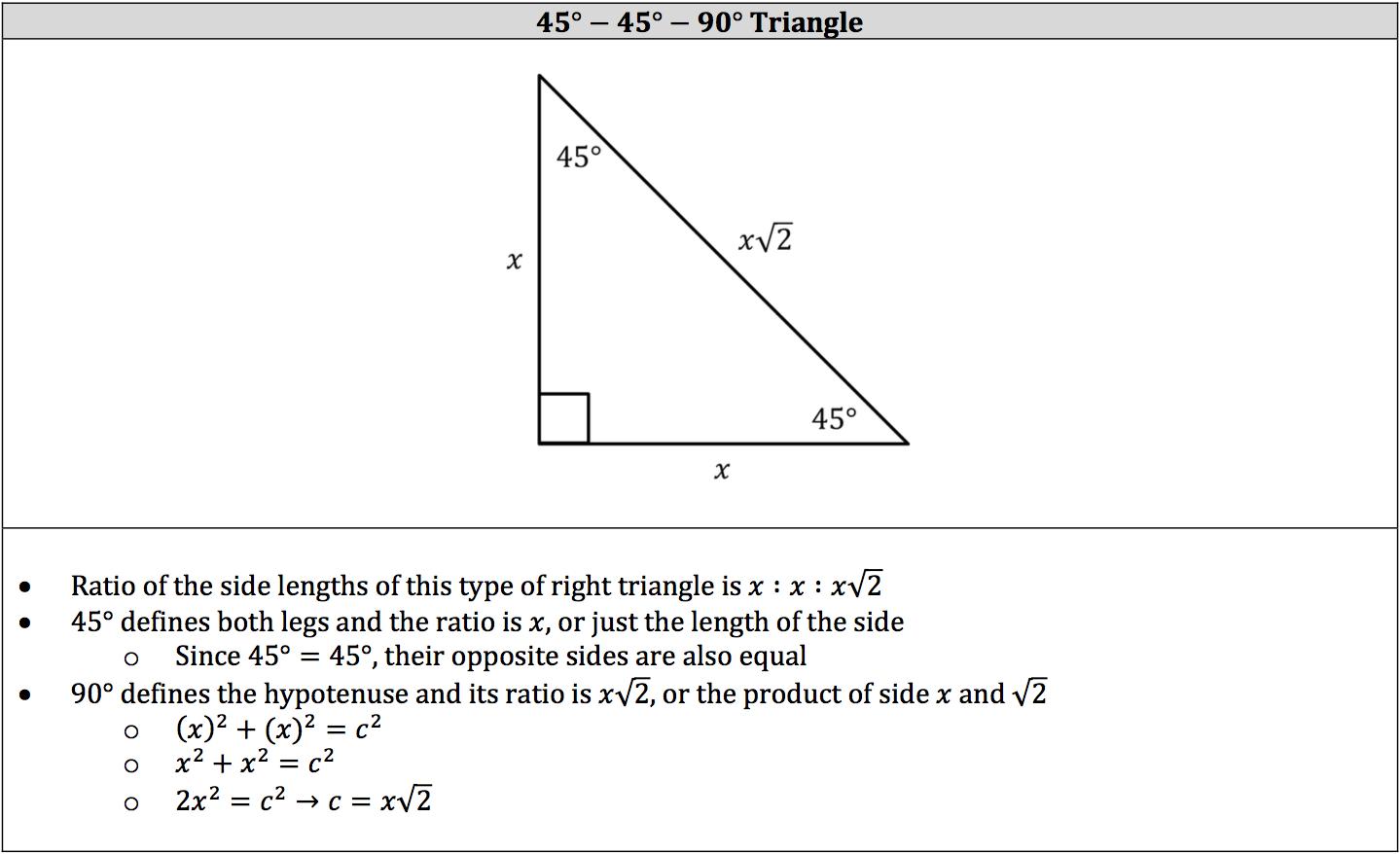 45-45-90-triangle