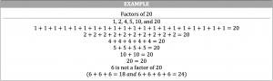 factors of 20