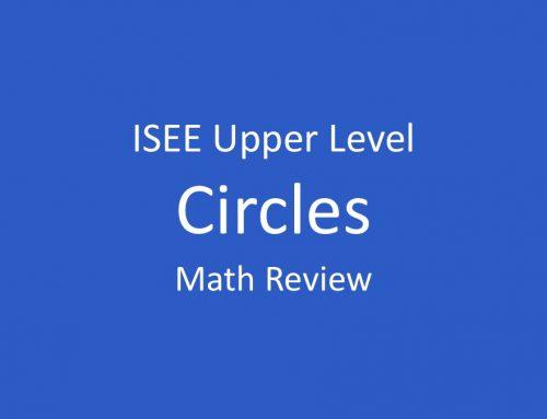 ISEE Math Review – Circles