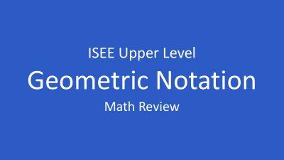 isee-geometric-notation