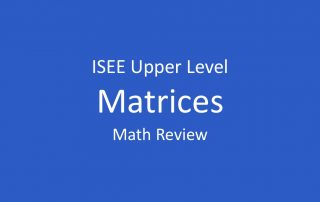 isee-matrices