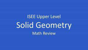 isee solid geometry
