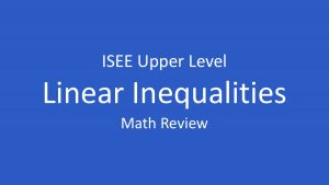 linear inequalities and their graphs