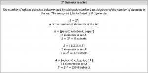 subsets in aset