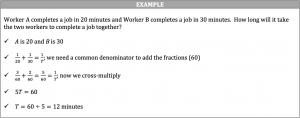 work word problem example
