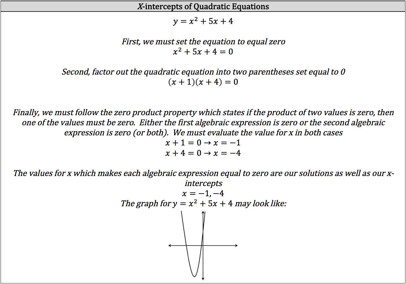 x-intercepts-of-quadratic-equations
