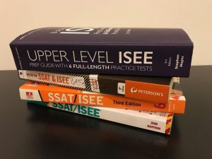 Stack of ISEE Books