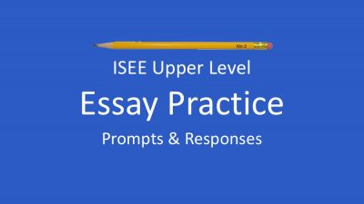 sample-isee-essay-prompts