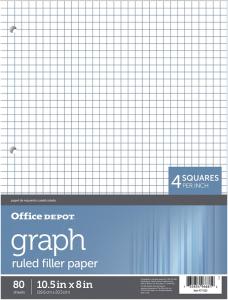 office-depot-graph-paper