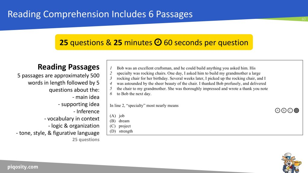 isee lower level reading comprehension