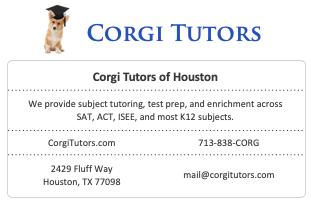 tutoring company listing