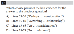 SAT Evidence Question