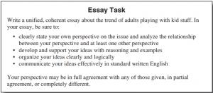 act essay task