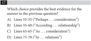 sat evidence question 17