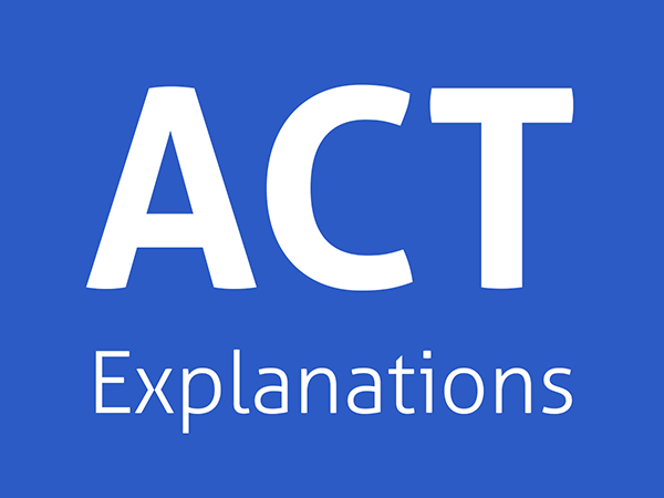 ACT Answer Explanations