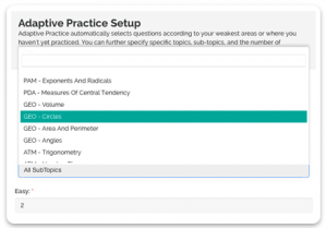 adaptive practice act feature