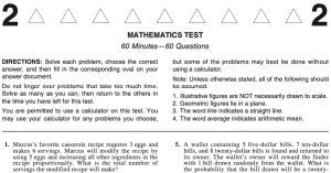 ACT 2020 Math Excerpt