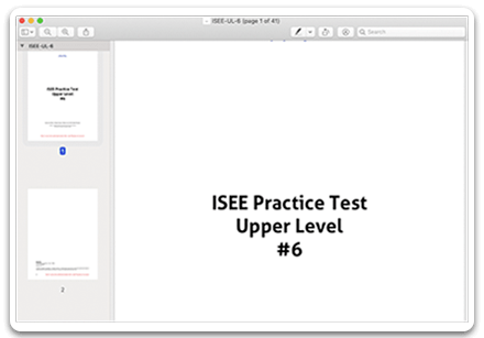 Downloadable PDF tests for printing offline