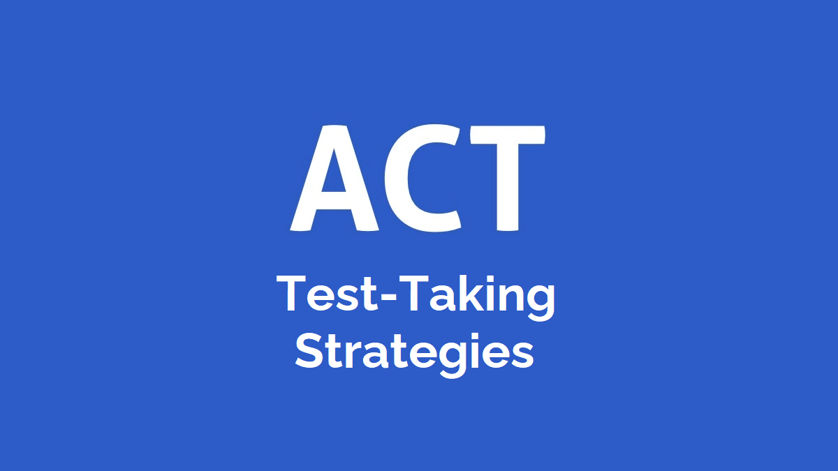 ACT test taking strategies cover