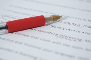red pen edit
