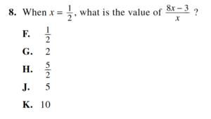 act math example 2