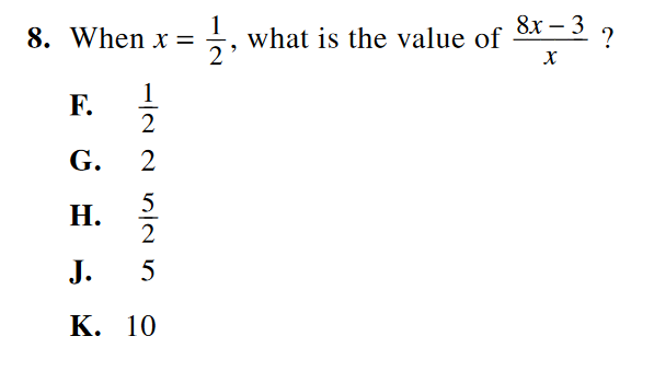 act math example 2