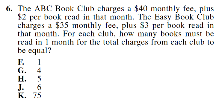 act math example 3