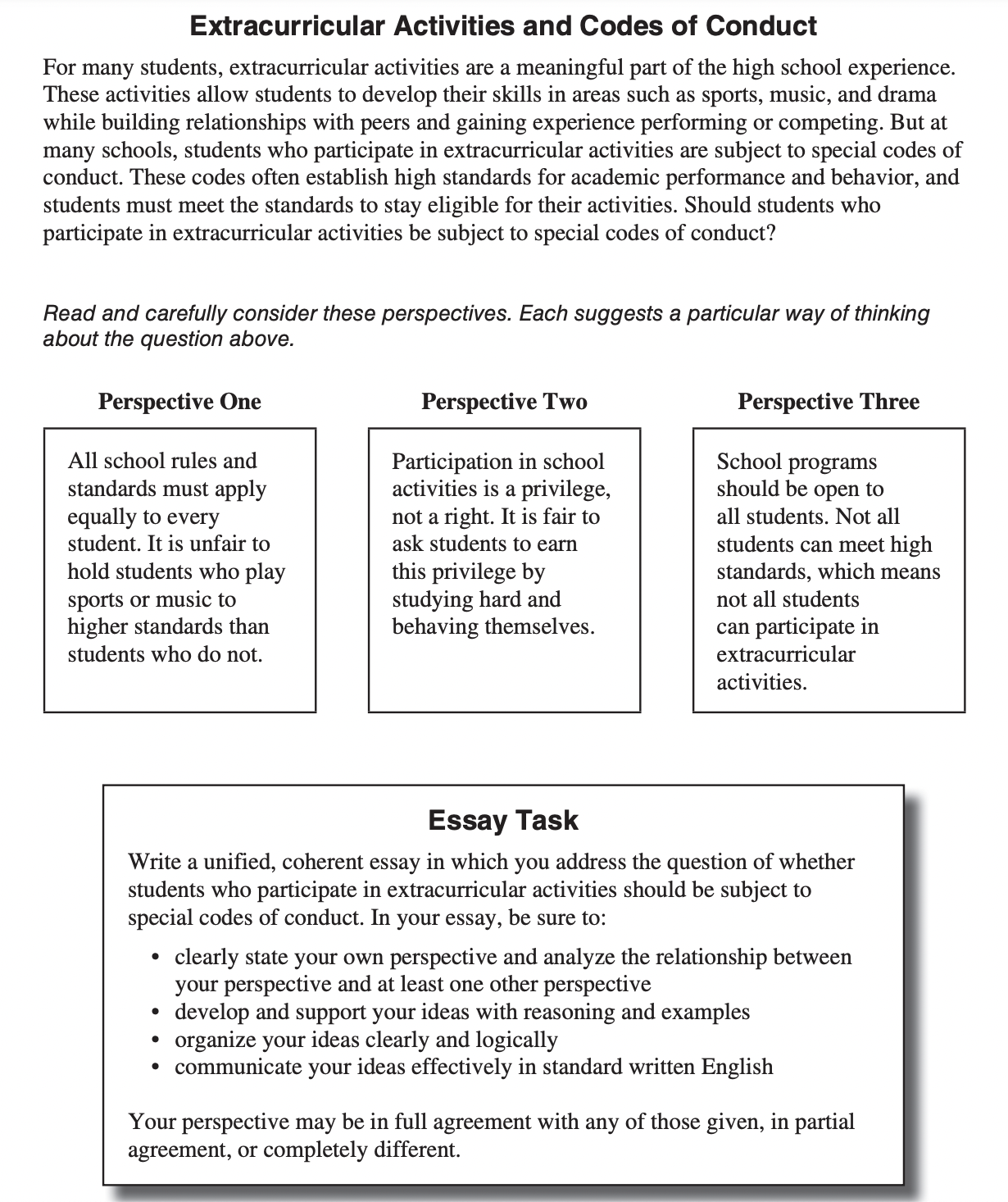 2021-22 ACT Writing Practice Test Sample Essays
