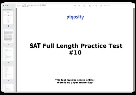 SAT practice test 10 PDF